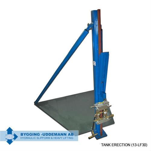 Steel tank trestles - lift bock