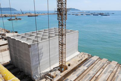 Caisson Gantry System for Breakwater Wall - Vietnam - bygging uddemann