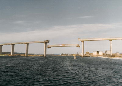 Lifting of Bridge Section - Gothenburg, Sweden - bygging uddemann