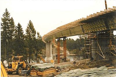 Bridge Launching - Väddöviken, Sweden - bygging uddemann