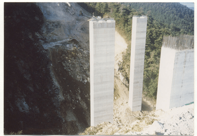 Bridge pylons, Banjung Bridge - Korea - bygging uddemann