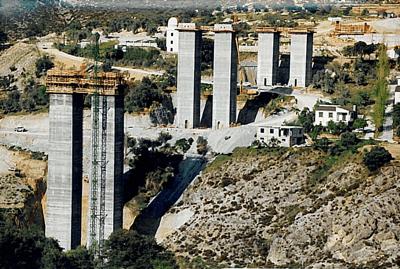 Bridge Pylons Granada - Baza, Spain