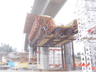 Lifting of Formwork, Bridge - Axhult, Sweden - bygging uddemann