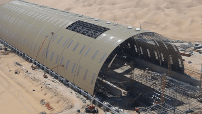 Lifting of Space Frame - Abu Dhabi - bygging uddemann