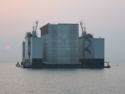 Transfer of Caissons- Kwangyang Sect. 3-1, Korea