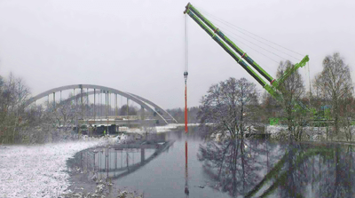 Bridge Launching - Borås, Sweden - bygging uddemann