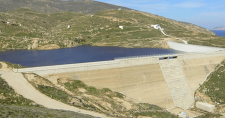 Lining of Spillway - Serifos Dam, Greece - bygging uddemann