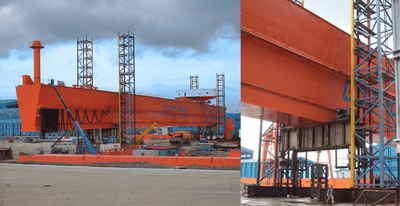 Lifting of Crane - Subic, Phillipines - bygging uddemann