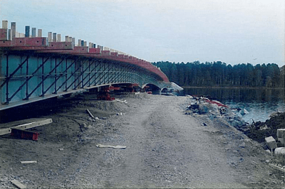 Bridge Launching - Långan, Sweden - bygging uddemann