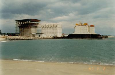 Transfer of Caissons - Pasir Panjang Sect. 1, Singapore - bygging uddemann