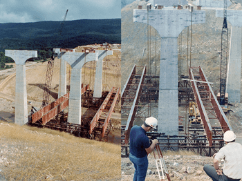 Lifting of Bridge Section - Rocky Gap, West Virginia, US. - bygging uddemann