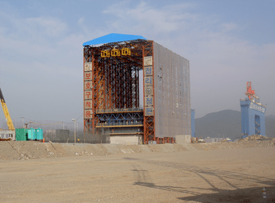Caisson Gantry System - Pusan, Korea - bygging uddemann