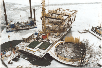 Caissons for Bridge Foundation - Tranebergsbron, Sweden - bygging uddemann