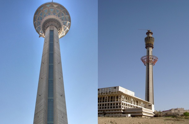 Milad Tower - Tehran, Iran - bygging uddemann