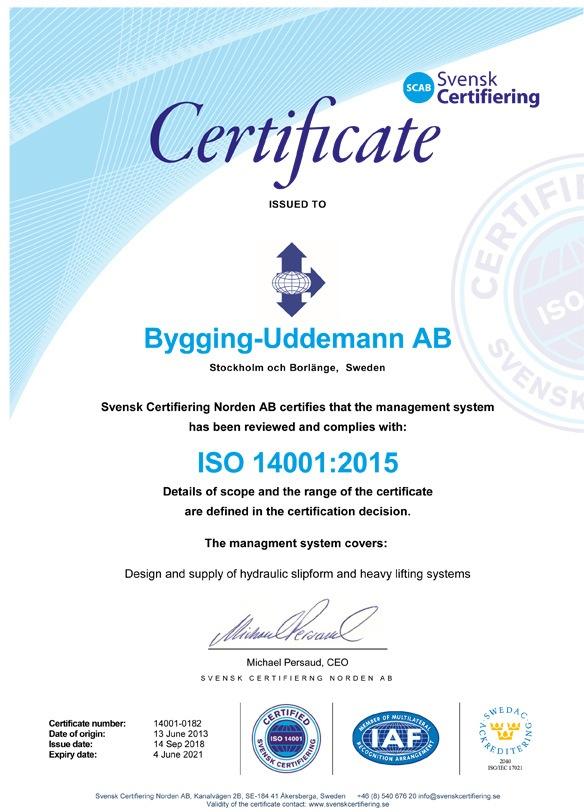 Bygging Uddemann ISO 14001