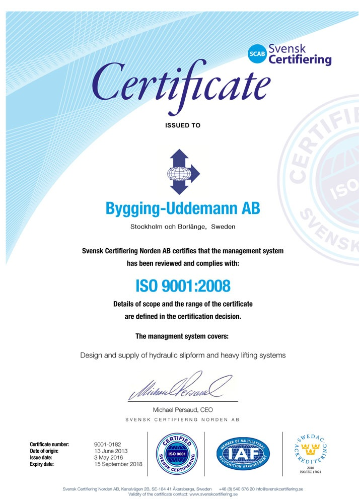 ISO 9001 - 2008 certified