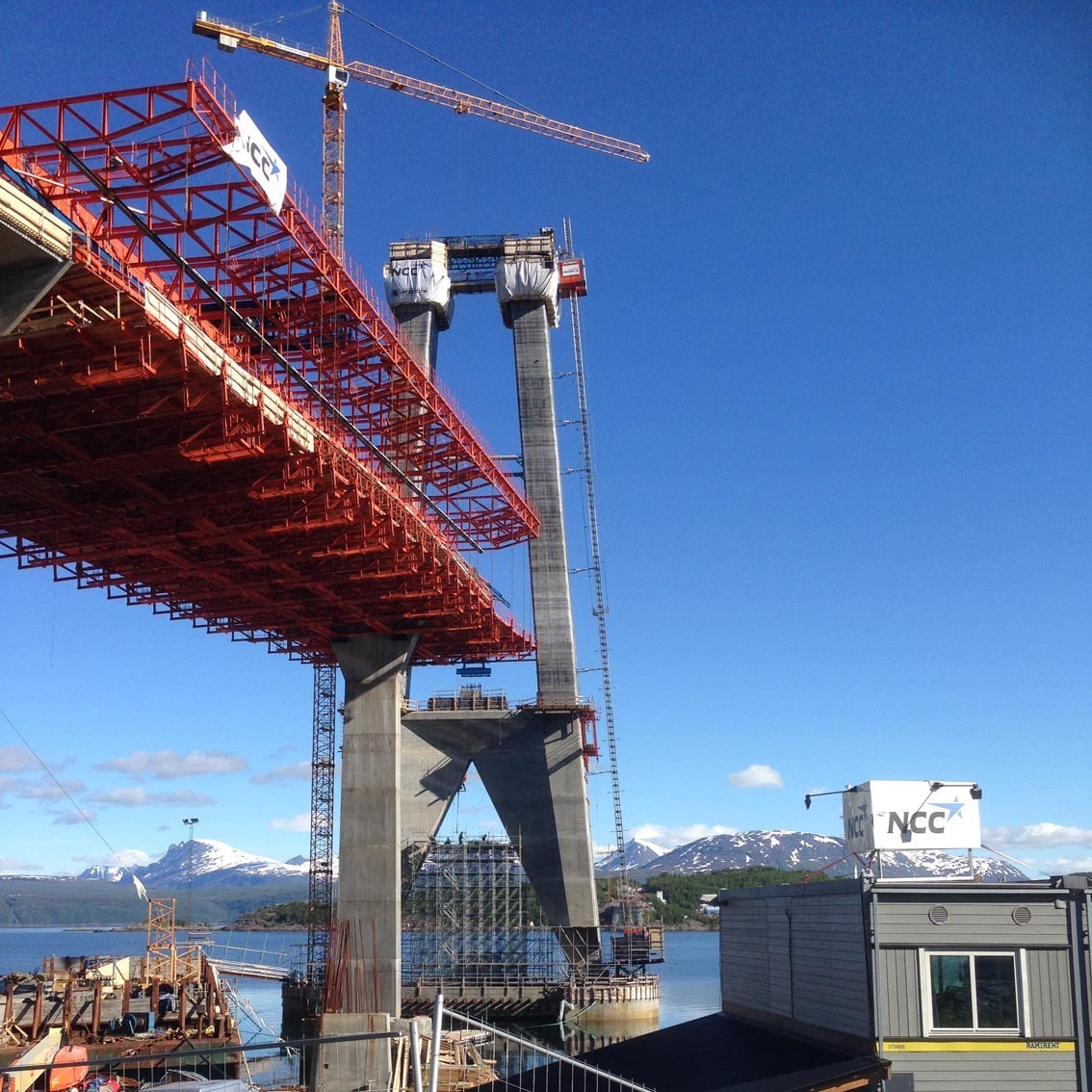 Hålogolandsbrua, Suspension bridge