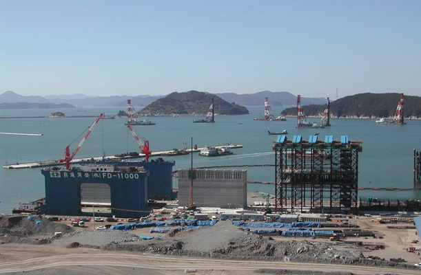 Caissons for Container Terminal - Pusan, Korea - bygging uddemann