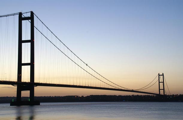 Humber Bridge - Kingston upon Hull, UK. - bygging uddemann