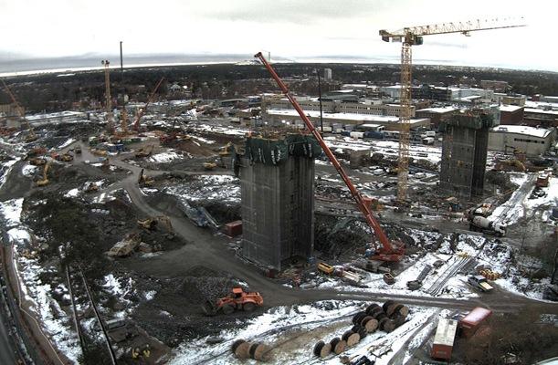 Core, Stockholmsarenan - Stockholm, Sweden  - bygging uddemann
