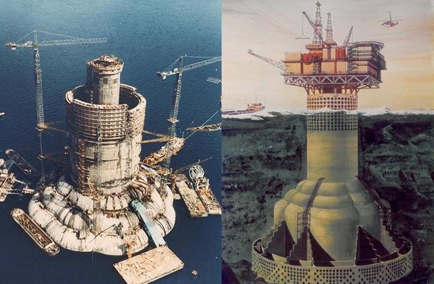 Oil Platform - Ninian Oil field, UK. - bygging uddemann