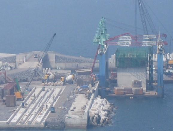 Jeju Naval Base Caisson 2nd Section, Korea